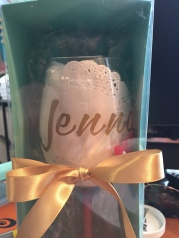 Customised & Decorated Wine Glass all boxed up