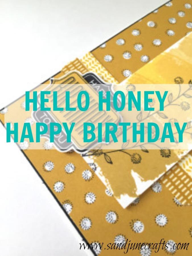 Hello Honey, HappyBirthday!