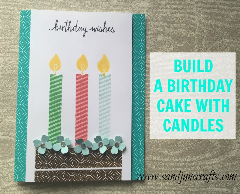 Build a birthday cake with candles