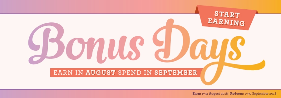 Earn More With Stampin' Up!s Bonus Days