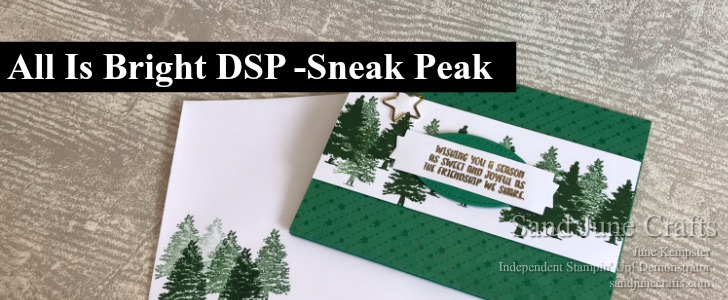 All Is Bright DSP Sneak Peek –  Stampin' Up! 2018 Holiday Catalogue