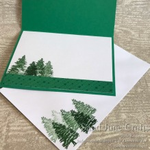 All Is Bright Card and Matchine Envelope card insert