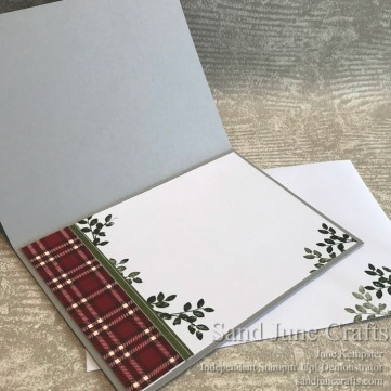 Festive Farmhouse Card and Envelope card insert.