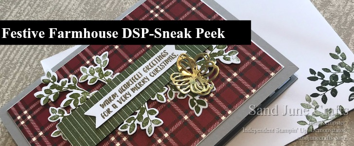 Festive Farmhouse DSP Sneak Peek – 2018 Stampin' Up! Holiday Catalogue
