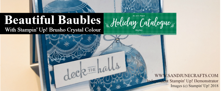 Holiday Catalogue Art With Heart September Blog Hop featuring Beautiful Baubles with Stampin' Up! Brusho Crystal Colours