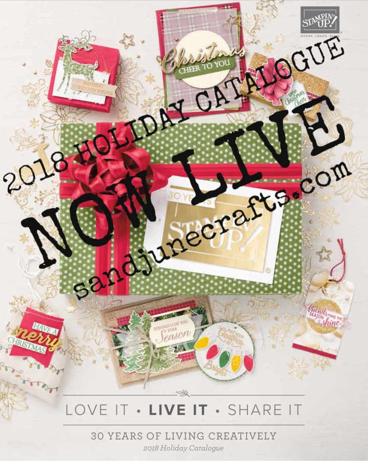 Stampin' Up! 2018 Holiday Catalogue is now Live