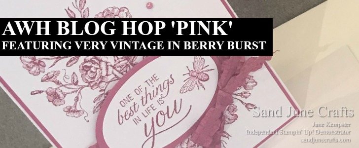 AWH Blog Hop 'Pink' featuring Very Vintage and Berry Burst